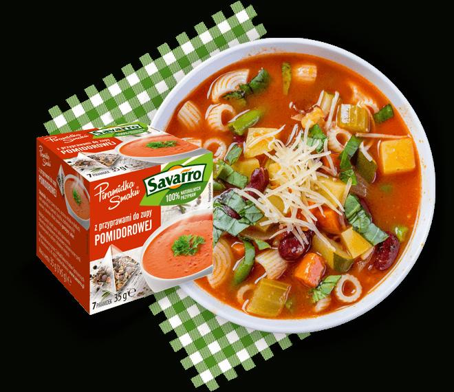 Piramidki Smaku z przyprawami do zupy pomidorowej